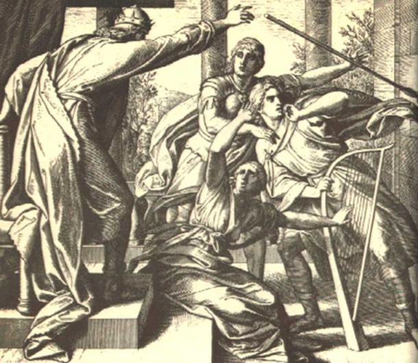 Saul tries to kill David.