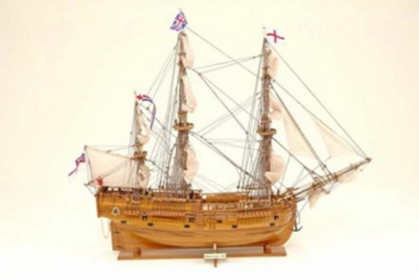 Scale model believed to be of the Endeavour (© Historic Marine, Mauritius)