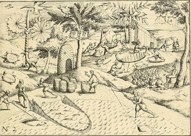 """Scene depicting tradesmen in Mauritius. Taken from """"The Dodo and its Kindred"""" (1848) (Public Domain)"""