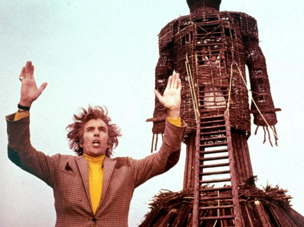 Scene from the movie 'The Wicker Man' (1973).