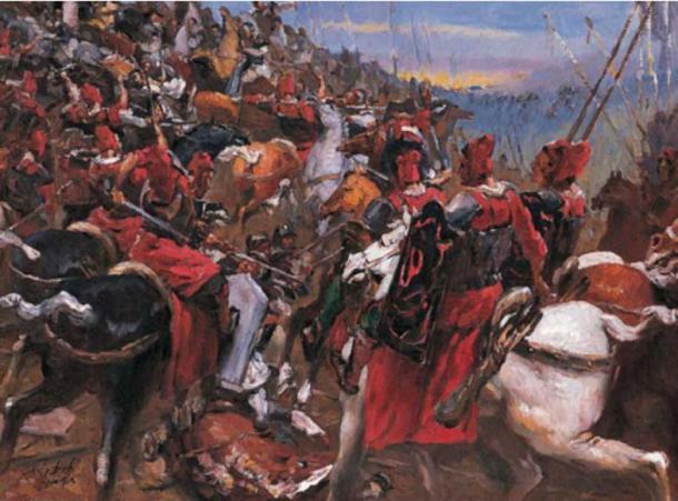 Scene of the Battle of Gaixia.