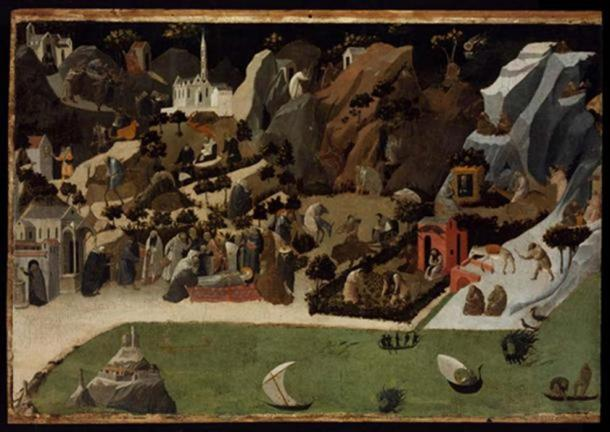 Scenes from the Lives of the Desert Fathers (Thebaid), 1420. (Public Domain)