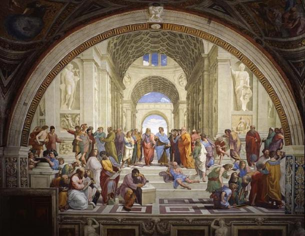 The School of Athens by Raphael ('Stanze di Raffaello') in the Apostolic Palace in the Vatican. (Raphael / Public domain)