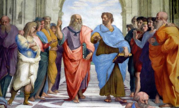 Raphael, School of Athens, fresco, 1509-1511 (Stanza della Segnatura, Papal Palace, Vatican)
