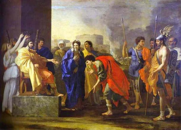 Scipio's noble deed. Painting by Nicholas Poussin (1640). Scipio Africanus may have been the first to form the Praetorian Guards.