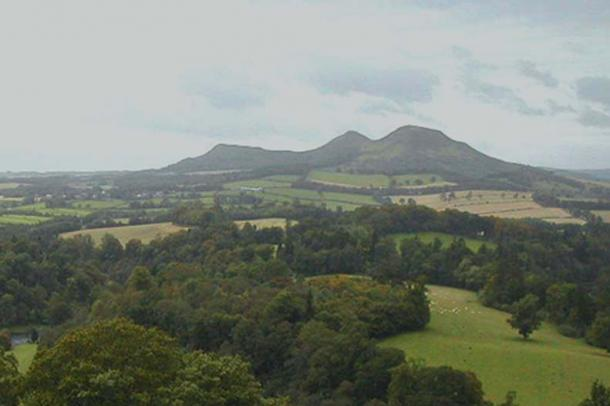 Apparently, Scot's magic split Eildon Hill into three!