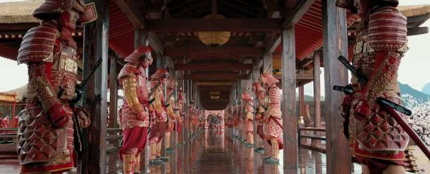 Screenshot of the samurai Ronin from the Universal Picture's film '47 Ronin'