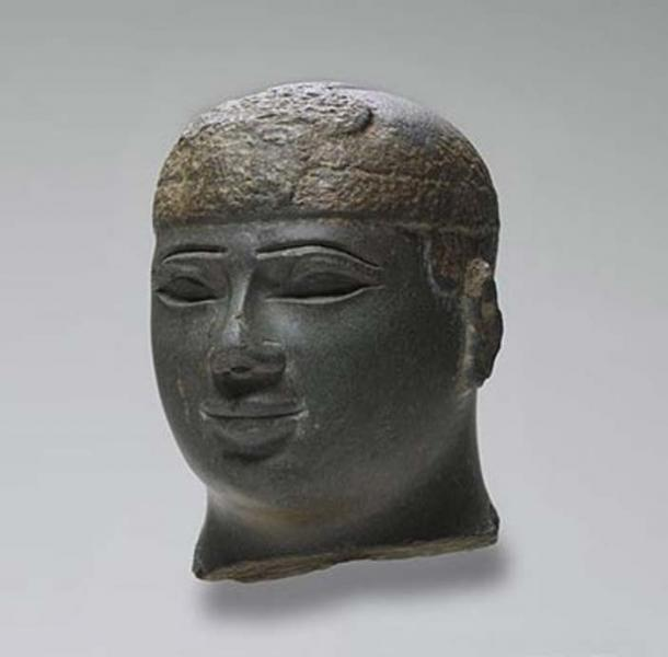 Sculpture depicting the head of a Kushite Ruler, ca. 716-702 BC.