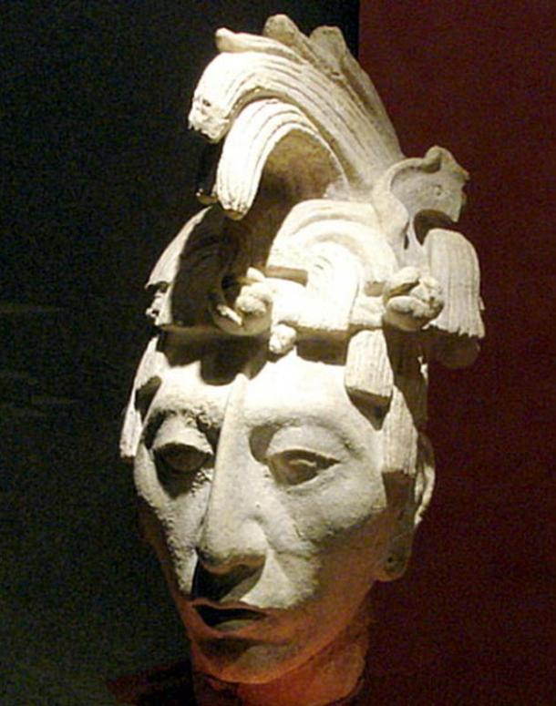 """Sculpture of King K'inich Janaab' Pakal, or """"Pakal the Great"""". National Museum of Anthropology, Mexico City."""