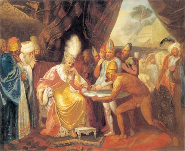 Scythian emissaries meeting with Darius by Franciszek Smuglewicz  (1745–1807) Lithuanian Art Museum (Public Domain)