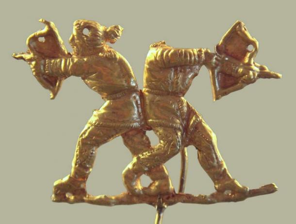Scythians shooting with the Scythian bow, Kerch (ancient Panticapeum), Crimea, 4th century BC.