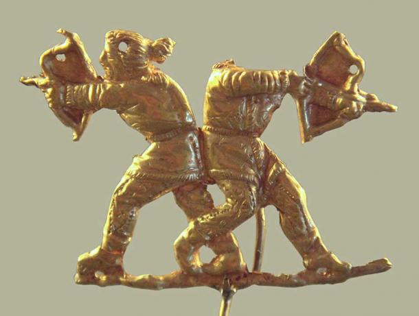 Scythians shooting with the Scythian bow, Kerch (ancient Panticapeum), Crimea, 4th century BC