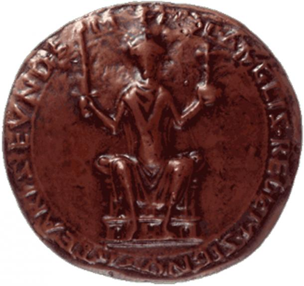 Seal of William Duke of Normandy as King of England. (The National Archives)