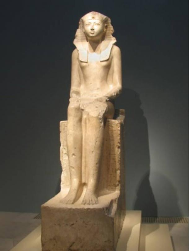 Seated Statue of Hatshepsut, 18th Dynasty, ca. 1473-1458 B.C.E. New Kingdom Egyptian, from Western Thebes.