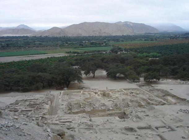 The Sechín archeological site in the Casma Valley, Peru