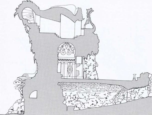Section of Appennino. Illustration by P. van der Ree.