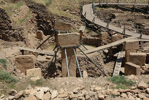 Section of the Göbekli Tepe archaeological site. (Klaus-Peter Simon/CC BY SA 3.0)