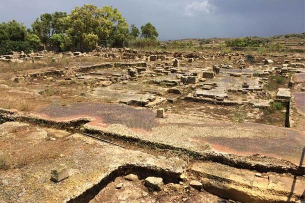 Sections of the Tas-Silġ Roman temple flooring found during restoration work in Malta. (Times of Malta)