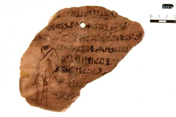 Sehaqeq, the headache demon. Ostracon Leipzig, Ägyptisches Museum Georg Steindorff. Inv.-No. 5152.