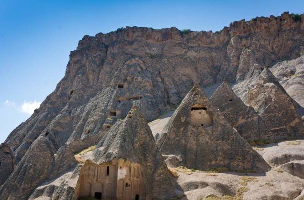Selime and Ihlara valley in Cappadocia, Anatolia, Turkey