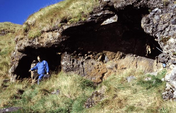 Seljalandshellar cave in the Westman Islands.