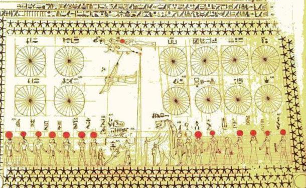 Detail of the bottom portions of Senemut's Astronomical Chart