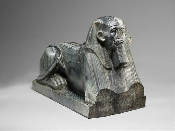 Senwosret III as a Sphinx, circa 1878–1840 BC from Egypt, possibly Upper Egypt