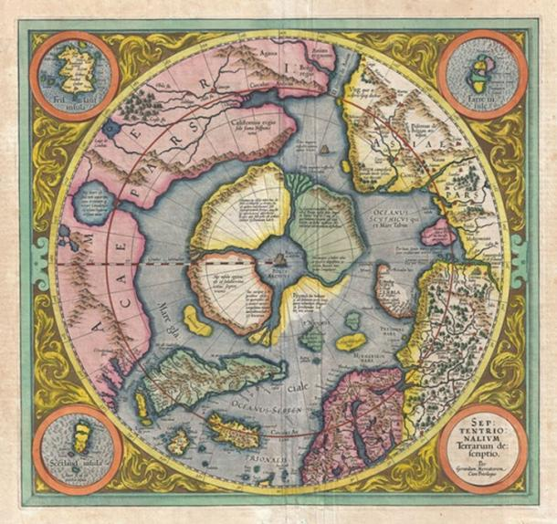 Septentrionalium Terrarum Descriptio. Gerard Mercator / Jodocus Hondius, 1595 (1606) (Author Provided)