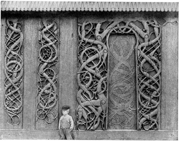 Serpent carvings adorning the church portal (Kind permission from Norwegian Directorate of Cultural Heritage)