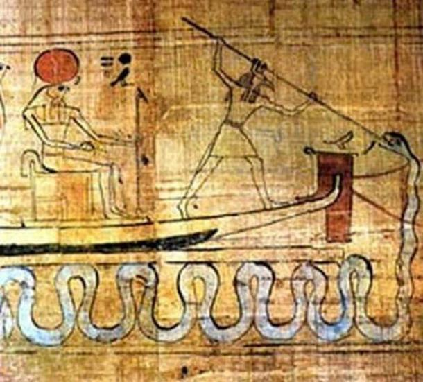 Set killing the demon snake Apep. (Public Domain)