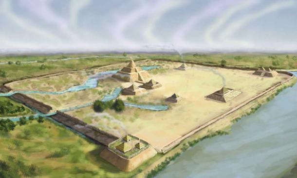 Settlement sites were very carefully selected. An artists conception of the Troyville Earthworks, the site for the Troyville culture in Catahoula Parish, Louisiana. (CC BY-SA 3.0)