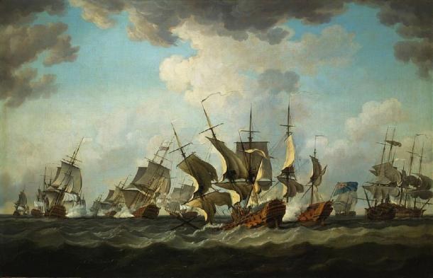 Seven Years War: Battle of Quiberon Bay by Richard Patton (1759) (Public Domain)