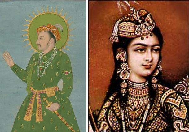Portraits of Shah Jahan's parents: Jahangir and Taj Bibi Bilqis Makani