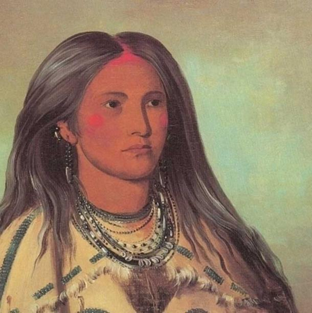 Shakoka, A pretty Mandan Girl, George Catlin 1832