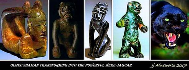 Shaman transforming into a Were-jaguar.