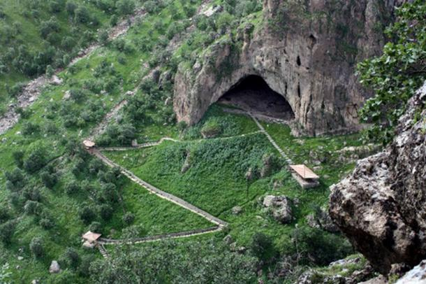 Shanidar cave in the Zagros Mountains.