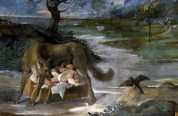 She-Wolf Suckling Romulus and Remus by Ludovico Carracci (Public Domain)