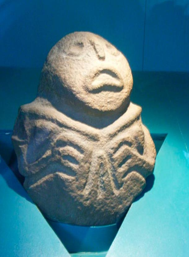 Sheela na gigs' sculpture, found at the archaeological site of Lepenski Vir in Serbia