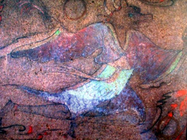 Shennong depicted in a more bovine and less humanistic version in an ancient Korean tomb mural.