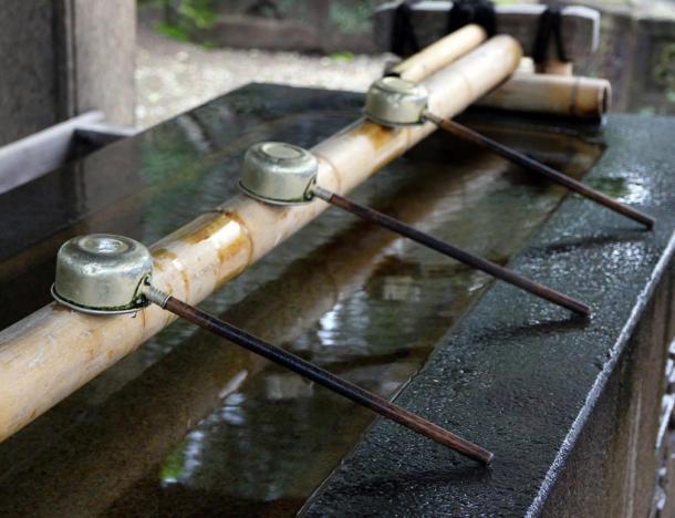 Shinto Shrine Purification Basin.