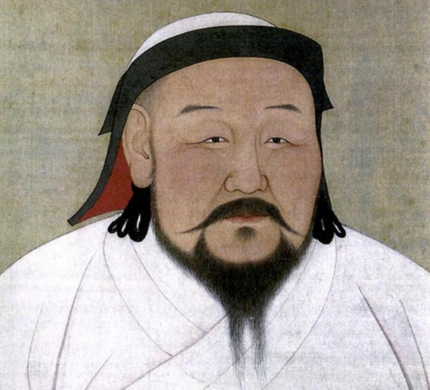 A painting of Shizu, better known as Kublai Khan, as he would have appeared in the 1260s (this painting is a posthumous one.)