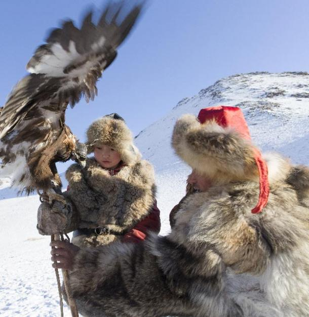 FIG 2.10. Shohan's daughter, Eagle Festival, Ulgii, Mongolia, 2015.