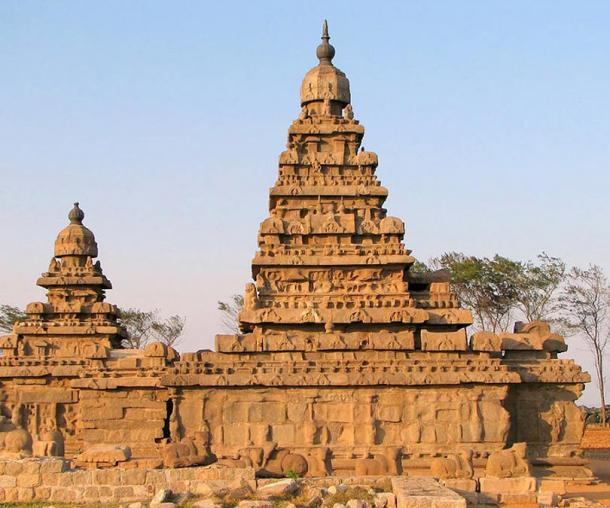 Shore Temple, Mahabalipuram, Tamil Nadu, India.
