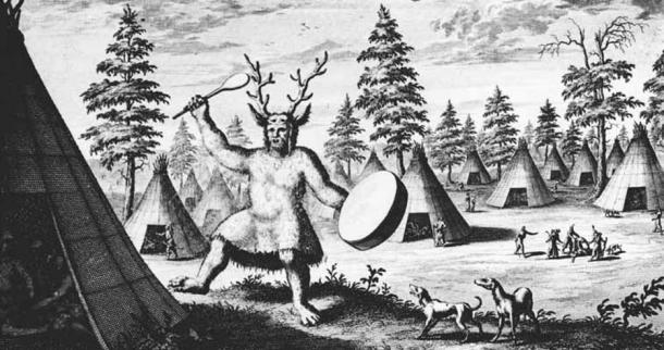 The oldest illustration of a Siberian shaman, N. Witsen (late 17th Century)