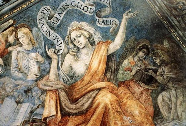 Sibyl of Cumae. (1489-1491) By Filippino Lippi.
