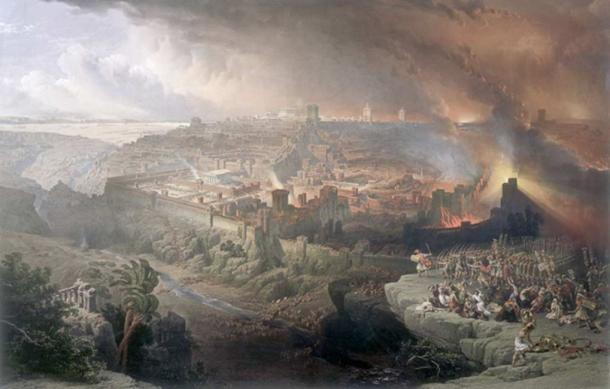 The Siege and Destruction of Jerusalem during Jewish-Roman war.