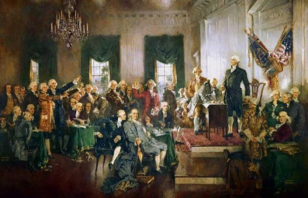 Scene at the Signing of the Constitution of the United States (1940) by Howard Chandler Christy.