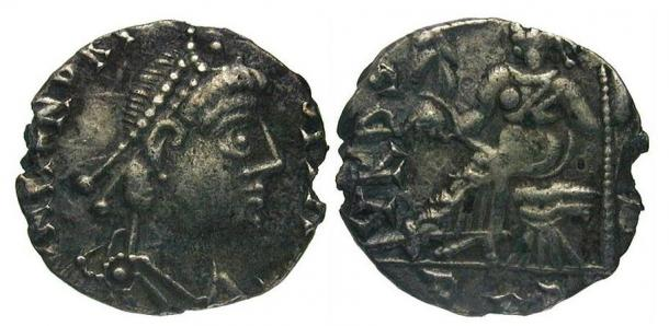 Siliqua of the Vandal King Gaiseric, circa 400 AD.
