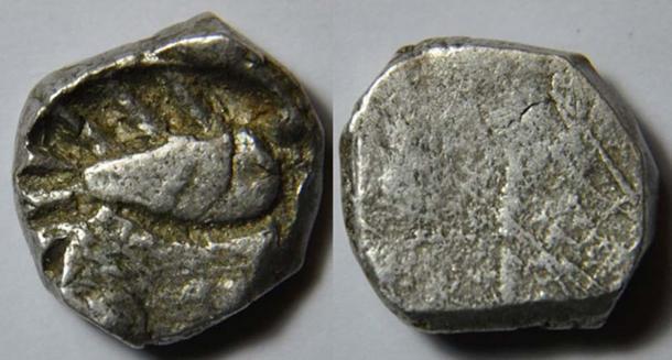 Silver coin of Avanti mahajanapada (4th century BC). (Jean-Michel Moullec/CC BY 2.0)