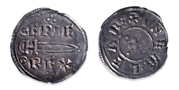 Silver penny of Eric Bloodaxe. (CC BY NC SA 4.0)